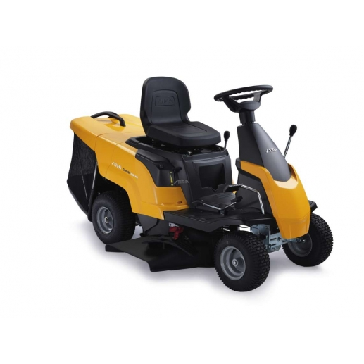 A compact ride on mower for the smaller garden. The Stiga 1066 HQ