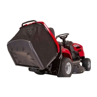 Mountfield 1538H  collecting lawn tractor tipping